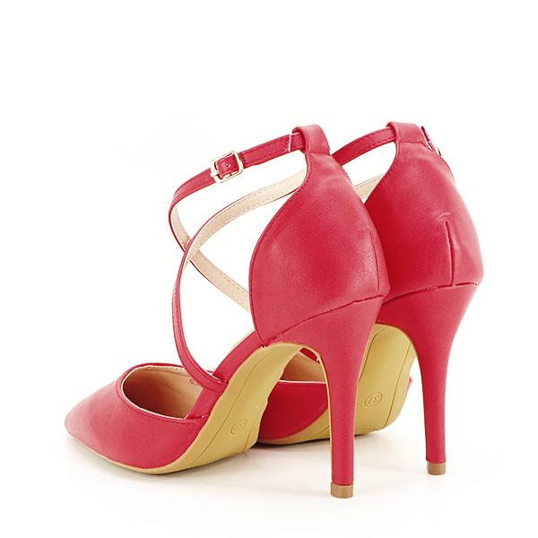 Pantofi rosii cu toc cui Zoe [3]