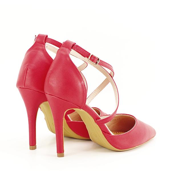 Pantofi rosii cu toc cui Zoe [4]
