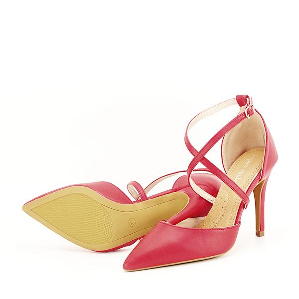 Pantofi rosii cu toc cui Zoe [7]