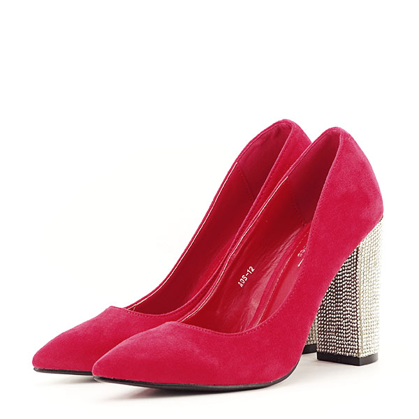 Pantofi rosii cu toc Debbie 1