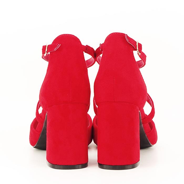 Pantofi rosii cu toc gros Amira [5]