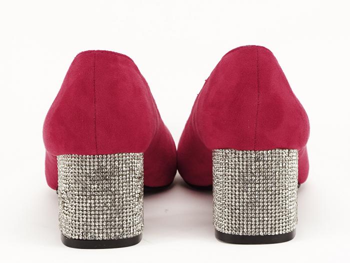 Pantofi rosii cu toc mic de 5,5 cm Ioana 4