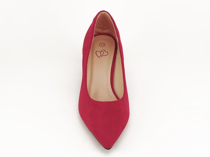Pantofi rosii cu toc mic de 5,5 cm Ioana 6