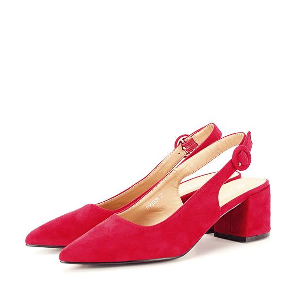 Pantofi rosii cu toc mic Simina [1]