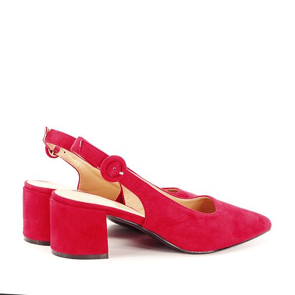 Pantofi rosii cu toc mic Simina [4]