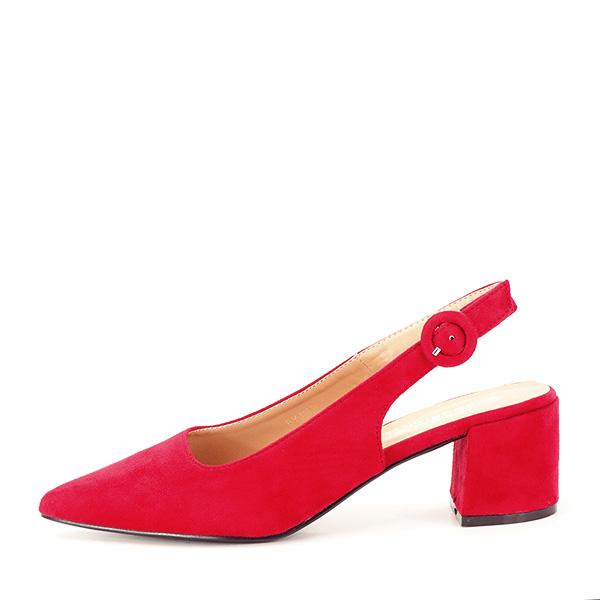 Pantofi rosii cu toc mic Simina [0]