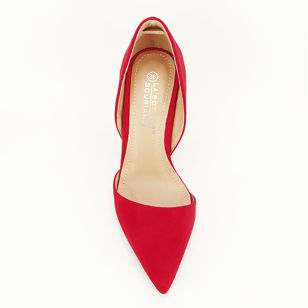 Pantofi rosii decupati Antonia 1