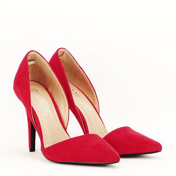 Pantofi rosii decupati Antonia 3