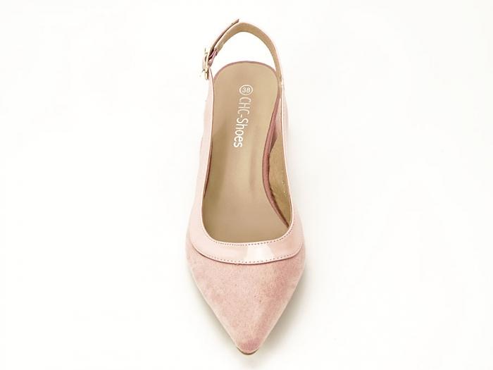 Pantofi roz decupati la spate Doris 3