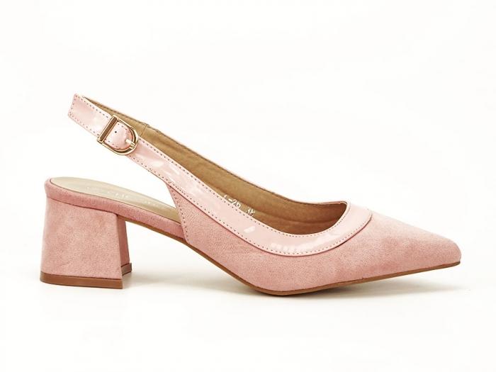Pantofi roz decupati la spate Doris 0