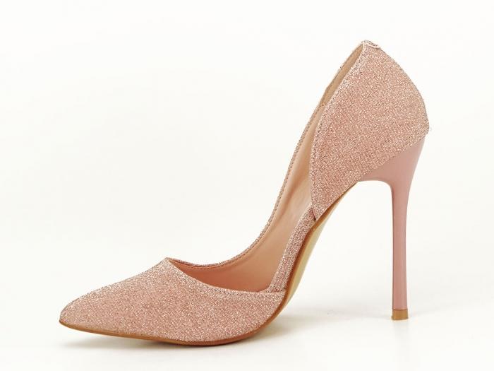 Pantofi roz decupati lateral Dream 2