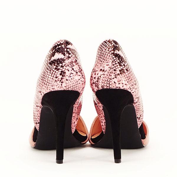 Pantofi roz pudra decupati lateral Lori [5]