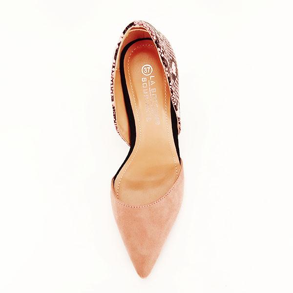 Pantofi roz pudra decupati lateral Lori [7]
