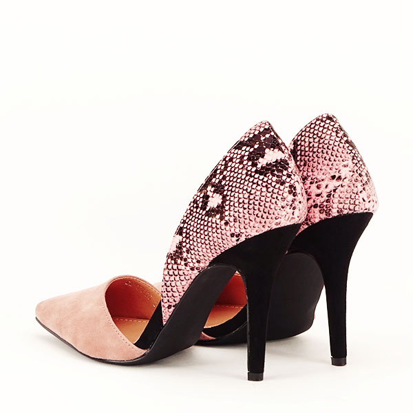 Pantofi roz pudra decupati lateral Lori [4]