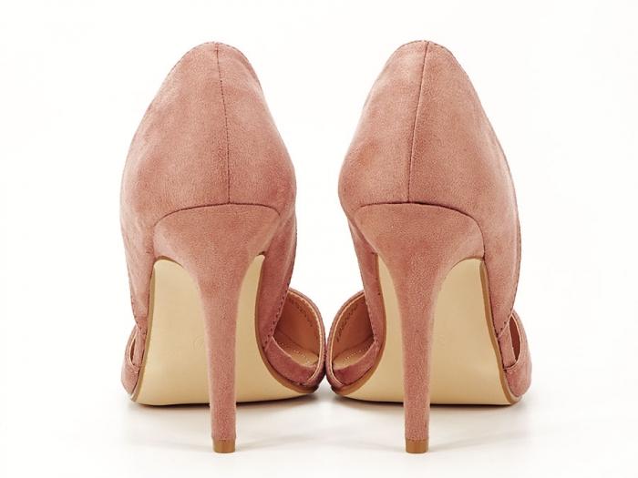 Pantofi roz somon decupati lateral Antonia 4