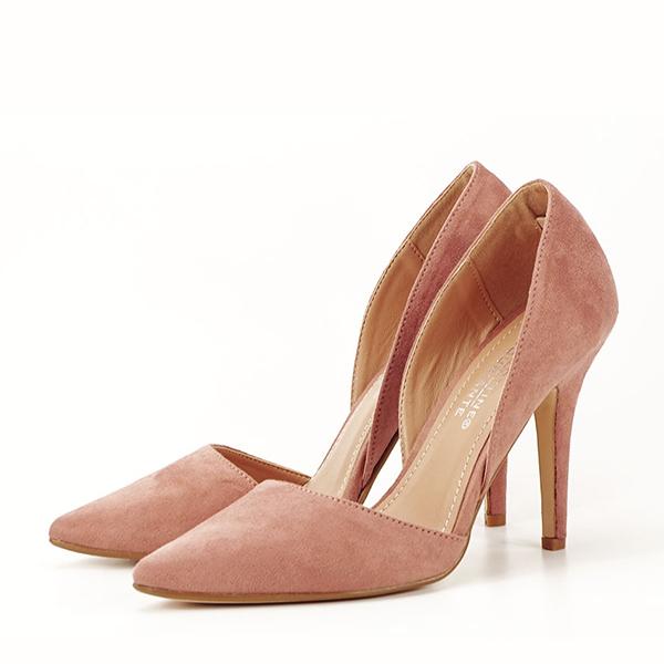 Pantofi roz somon decupati lateral Antonia 0