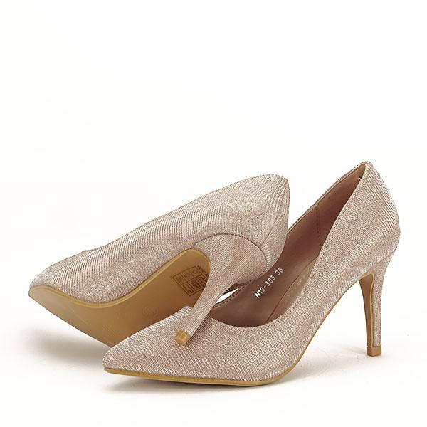 Pantofi sampanie cu toc Oana [7]
