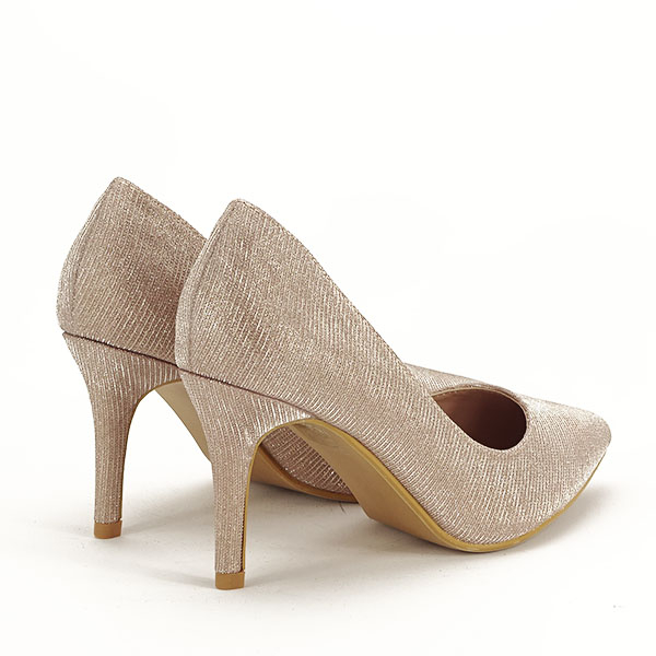 Pantofi sampanie cu toc Oana [4]