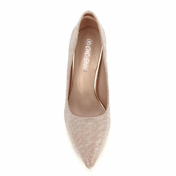 Pantofi sampanie cu toc Oana [6]