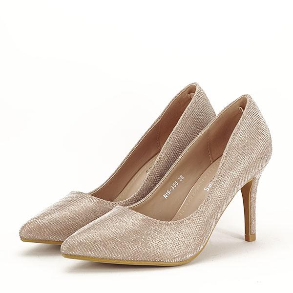Pantofi sampanie cu toc Oana [1]
