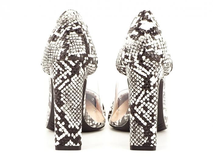 Pantofi snake print cu silicon lateral Naomi 4