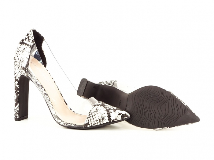 Pantofi snake print cu silicon lateral Naomi 2