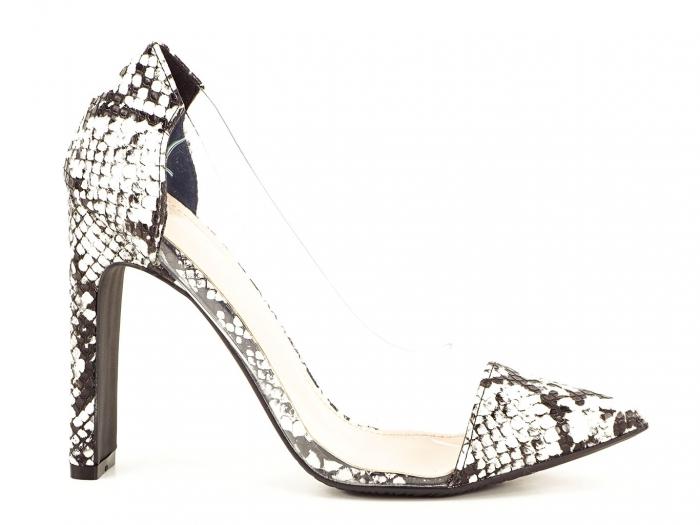 Pantofi snake print cu silicon lateral Naomi 0