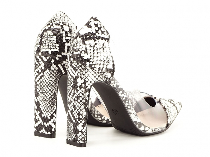 Pantofi snake print cu silicon lateral Naomi 3