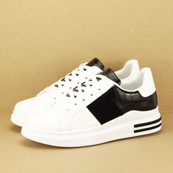 Sneakers alb cu negru Carise [1]