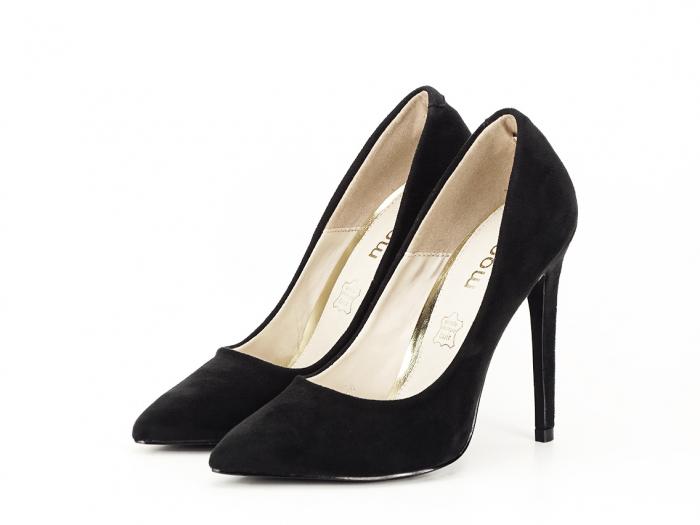 Pantofi negri eleganti cu toc inalt Grace 1