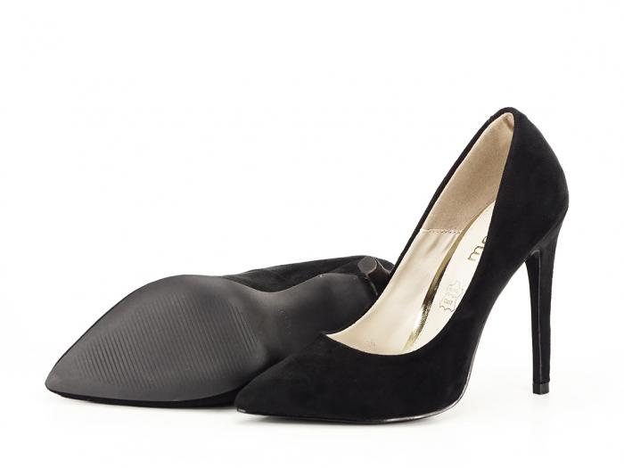 Pantofi negri eleganti cu toc inalt Grace 6