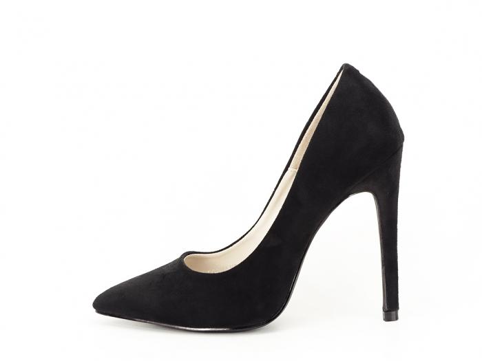 Pantofi negri eleganti cu toc inalt Grace 0