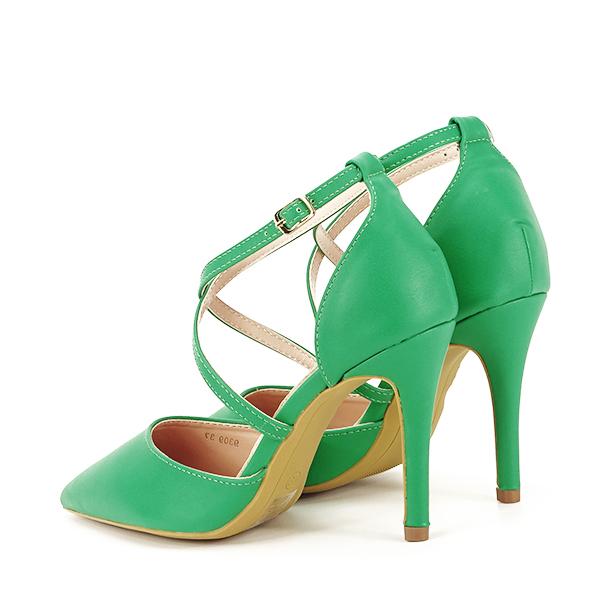 Pantofi verde crud cu toc cui Zoe [3]