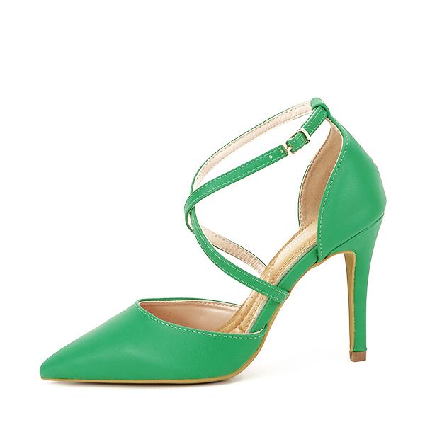 Pantofi verde crud cu toc cui Zoe [0]