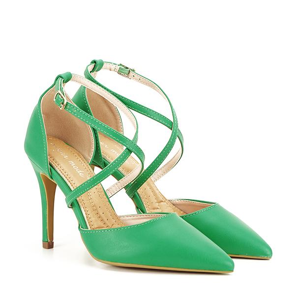 Pantofi verde crud cu toc cui Zoe [2]