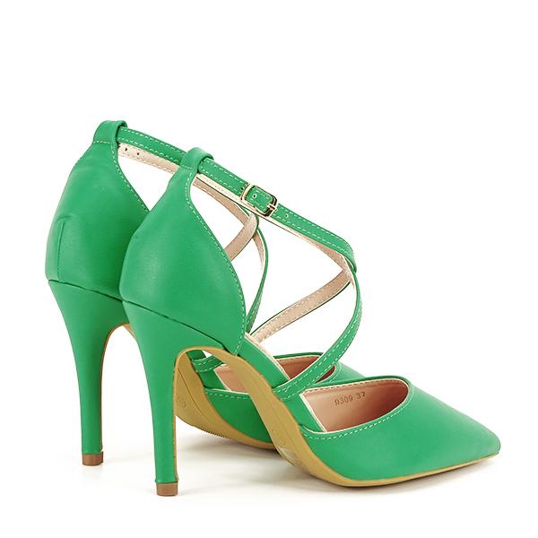Pantofi verde crud cu toc cui Zoe [4]