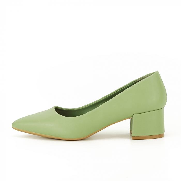 Pantofi verde fistic Anita 0