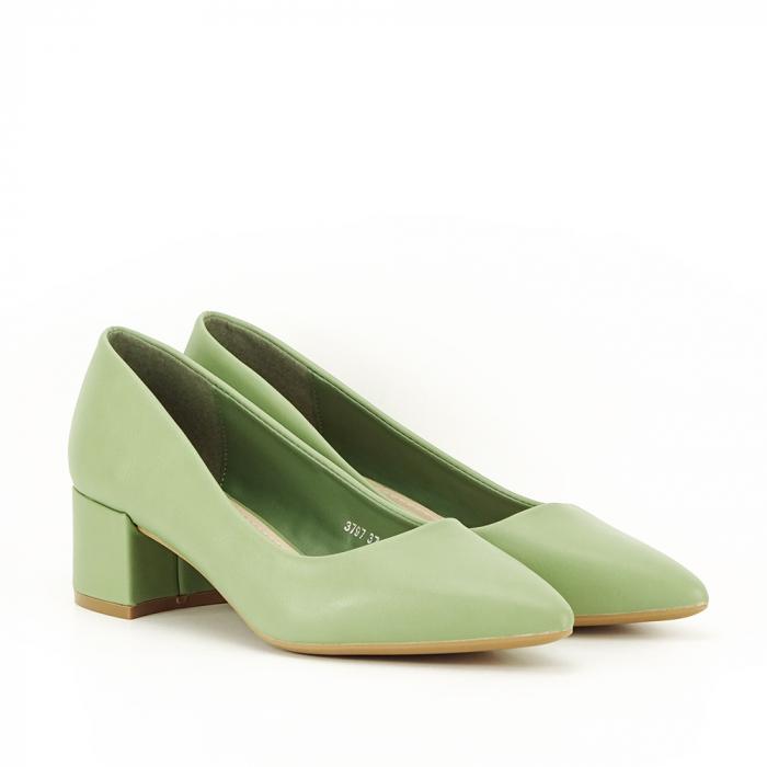Pantofi verde fistic Anita 4