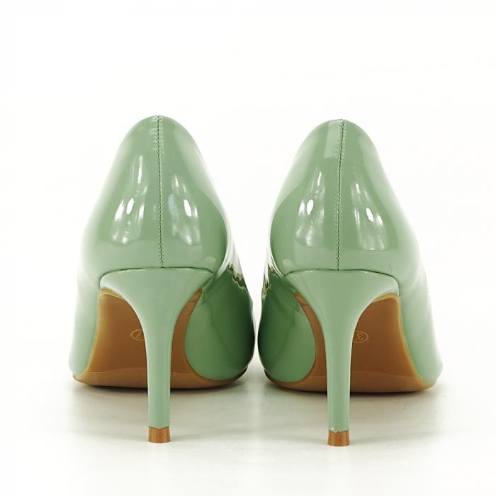 Pantofi cu toc verde fistic Alma 3