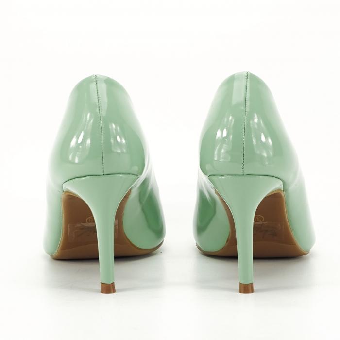 Pantofi verde fistic de lac Mella 3