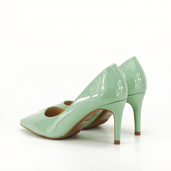 Pantofi verde fistic de lac Mella 2