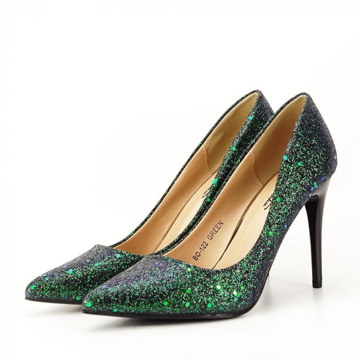 Pantofi verde smarald Mira 5