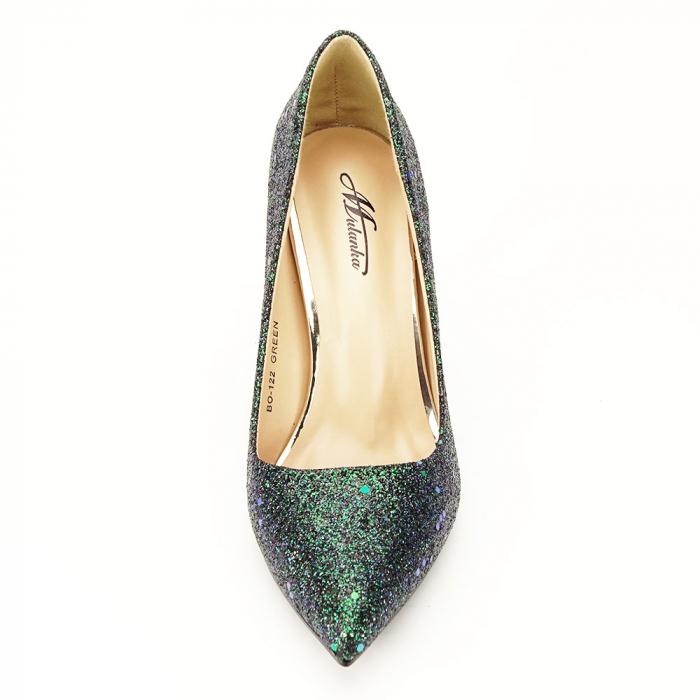Pantofi verde smarald Mira 7