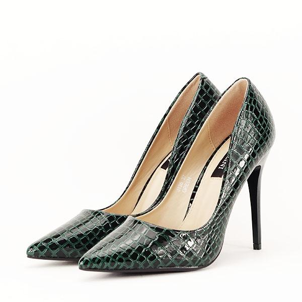Pantofi verzi cu imprimeu Alice [2]