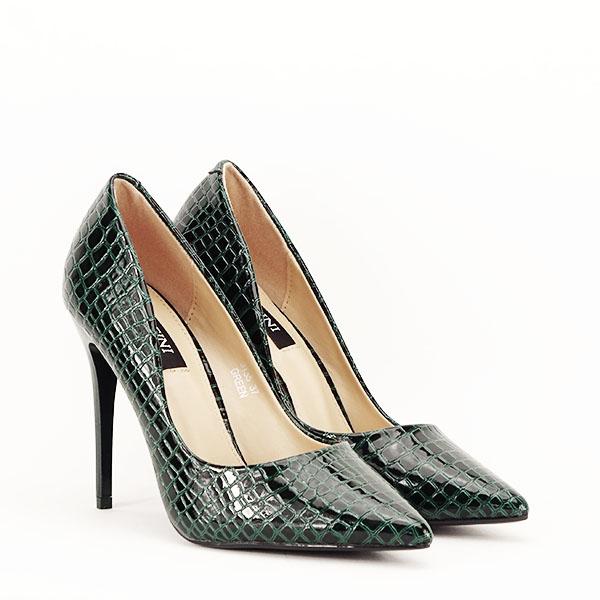 Pantofi verzi cu imprimeu Alice [3]