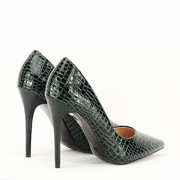 Pantofi verzi cu imprimeu Alice [5]