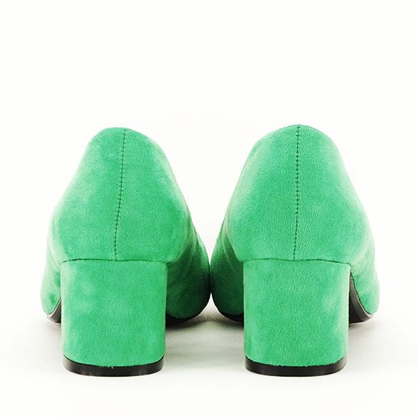 Pantofi verzi cu toc mic Cristina 6