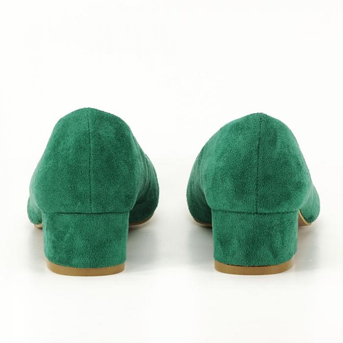 Pantofi verzi cu toc mic Elisa 7