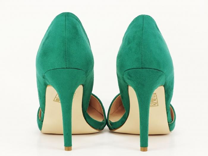 Pantofi dama verzi decupati lateral Antonia 4