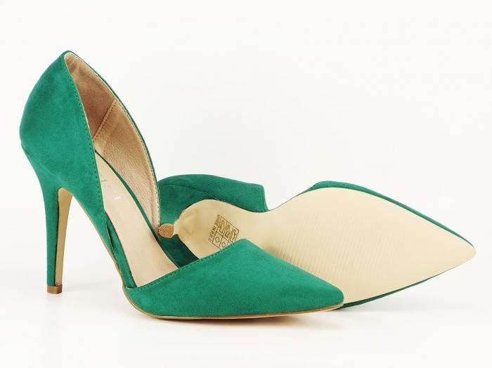 Pantofi dama verzi decupati lateral Antonia 2